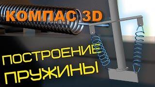 Пружина в Компасе 3D.  Построение пружины в КОМПАС 3D.