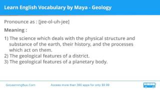 Learn English Vocabulary by Maya - Geology