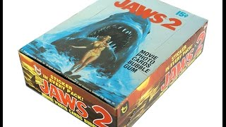 1978 Topps JAWS 2 Trading Cards (1 Pack Opened / Full Walkthrough) | Sean Pressler