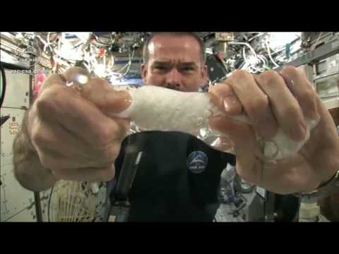 Wringing out a Water Soaked Washcloth in Space | CSA Science