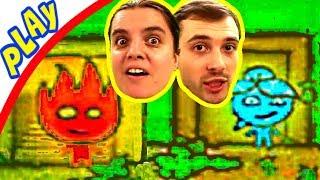 БолтушкА и ПРоХоДиМеЦ в Сложных ЛАБИРИНТАХ! #20 Игра для Детей - Огонь и Вода
