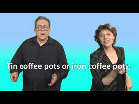 A proper copper coffee pot tongue twister for ESL English practice