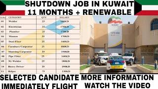 Shutdown job in Kuwait   Kuwait vacancy   job in Kuwait
