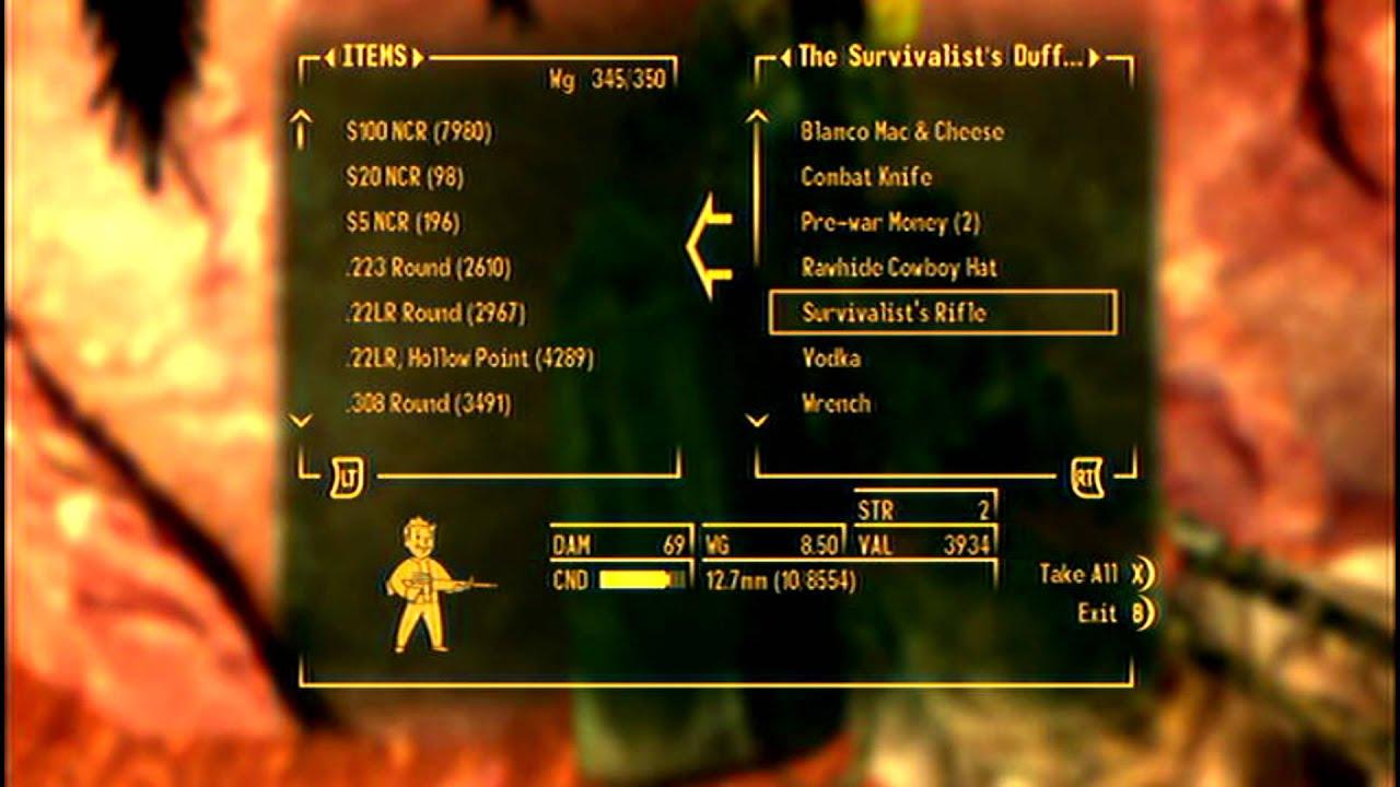 Fallout New Vegas Survivalist S Rifle Rare Weapon Youtube