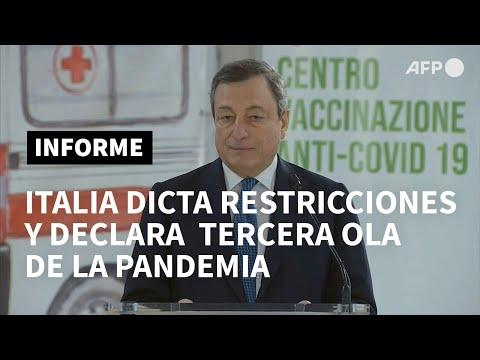 Italia encara la tercera ola de coronavirus con un nuevo confinamiento | AFP