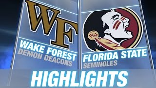 Wake Forest vs Florida State   2014-15 ACC Men