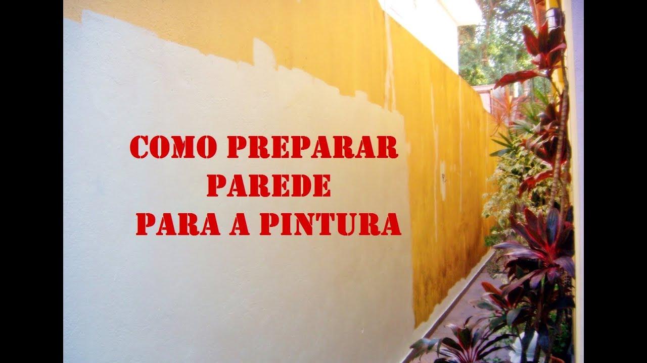 Como preparar parede para pintura diy youtube - Simulador de pintura para paredes ...