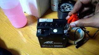 recharging motorcycle battery