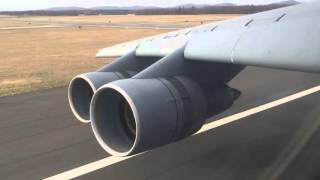 C5 landing with reverse thrust