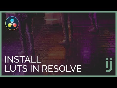 Easily Install LUTs In Davinci Resolve