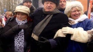 Владимир Жириновский на Московской лыжне