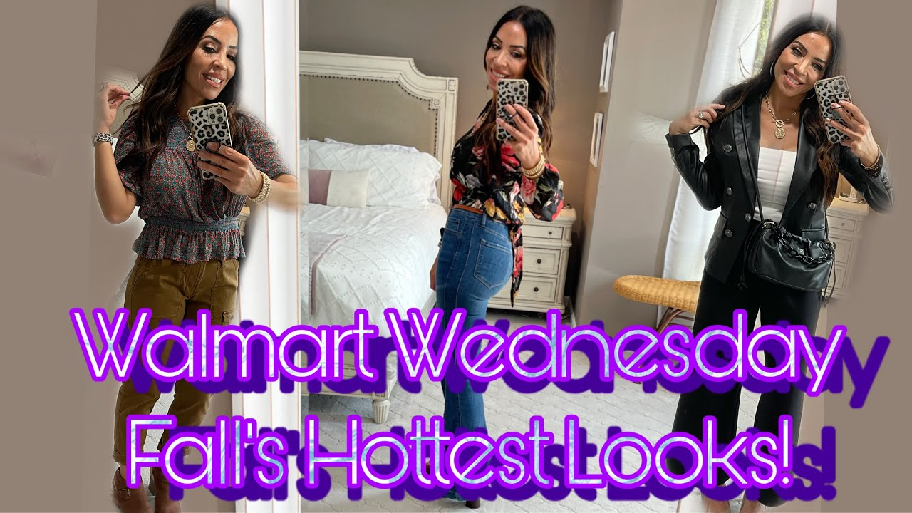WALMART WEDNESDAY|Clothing HAUL and TryOn|Fall 2021's Hottest Looks|#walmart #over40 #fall2021