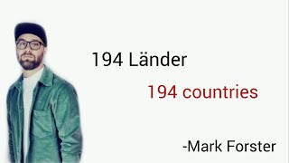 194 Länder, Mark Forster - Learn German With Music, English Lyrics