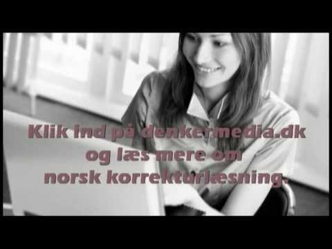 Norsk korrekturlæsning, norsk korrekturlæser, korrektur på norsk
