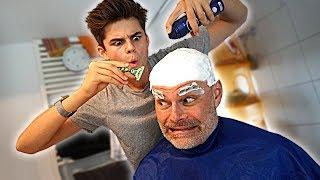 Ich rasiere meinem Papa die Haare... | Oskar