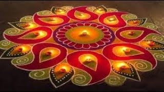 How to make rangoli for diwali