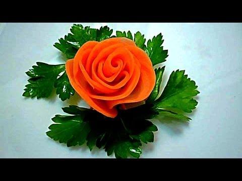 Как вырезать из морковки цветочек