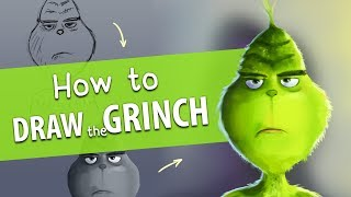 How to Draw the GRINCH from 2018 movie