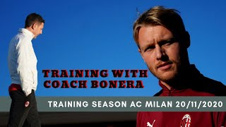 Training Season AC MILAN 20/11/2020 with Coach Bonera at Milanello Before Match againts Napoli ?