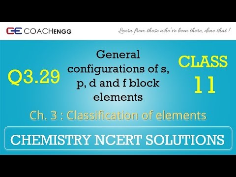 Classification of Elements Q3 29 Chapter 3 CHEMISTRY NCERT Solutions Class  11
