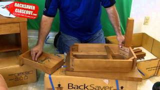 How To Assemble A Wedge Table For $39 From Backsaver Closeout
