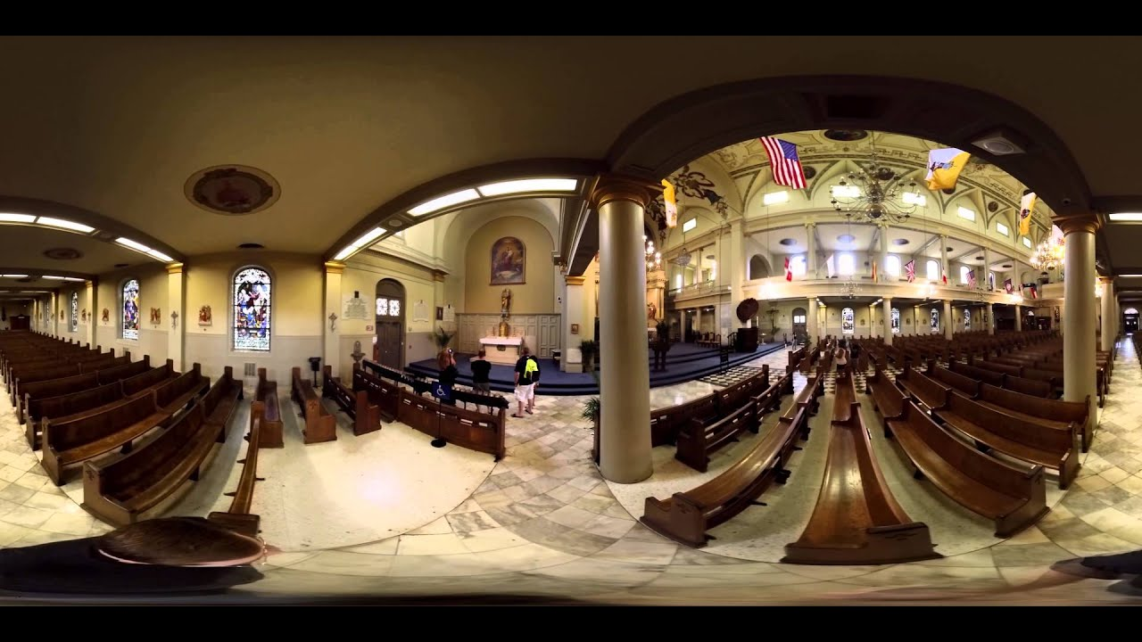 St Louis Cathedral New Orleans 360 Degree Video