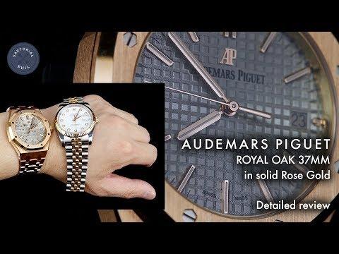 Audemars Piguet Royal Oak 37mm solid 18kt rose gold: Detailed review, Rolex comparison and macro