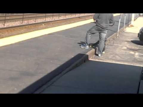 A Metra train westbound