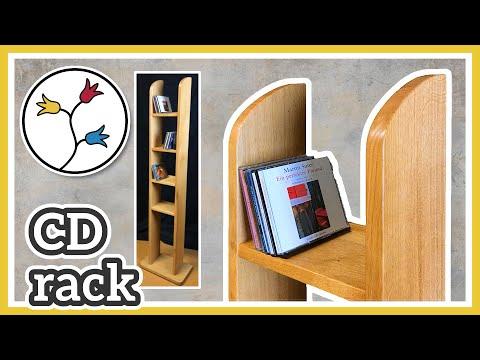 CD RACK DIY – Beautiful and simple design, CD Storage Rack