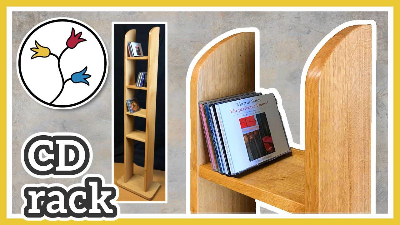 CD RACK DIY - Beautiful and simple design, CD Storage Rack ...