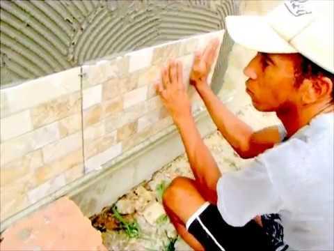 Como colocar piso em parede passo a passo como assentar - Sacar escuadra para colocar piso ...