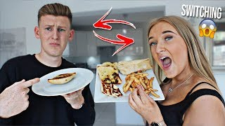 I Swapped DIETS with my GIRLFRIEND FOR 24 HOURS!! *bad idea*