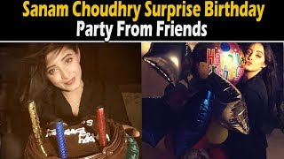 Sanam Choudhry Surprise Birthday Party From Friends | Celeb Tribe | Desi Tv