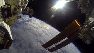 NASA astronauts capture first-person perspective of space walk using GoPro
