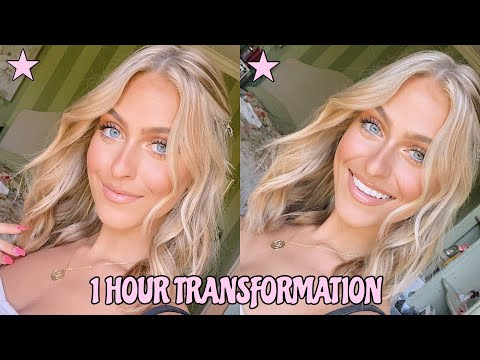 1 HOUR TRANSFORMATION    Makeup, Hair, & Outfit thumbnail