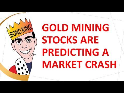 Gold Mining Stocks are Predicting a Market Crash