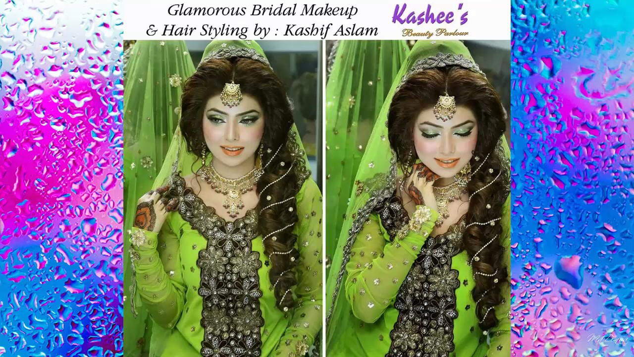 Mehndi Hairstyles S : Kashees latest bridal makeup hairstyle youtube