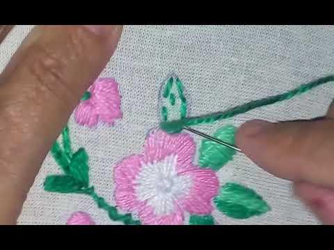 10d90e3cf6ca1d ♥Bordado a mão flor do campo em ponto cheio - hand embroidery♥ artesanato