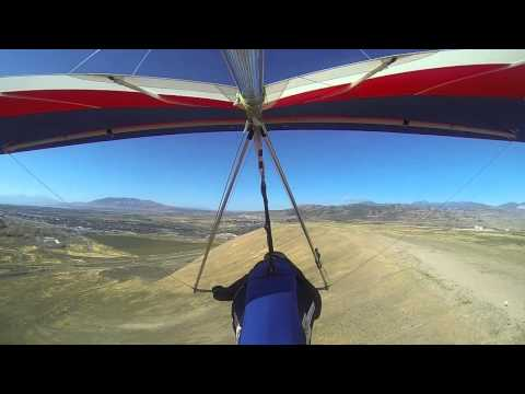 Relaxed Hanggliding at Point of the Mountain, Draper,  Utah, USA