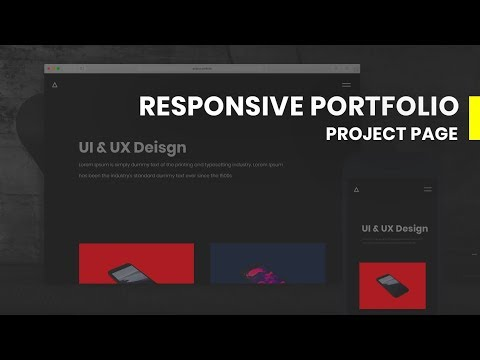 Responsive Portfolio Project Page | HTML & CSS