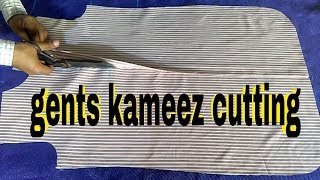 Gents kameez cutting step by step