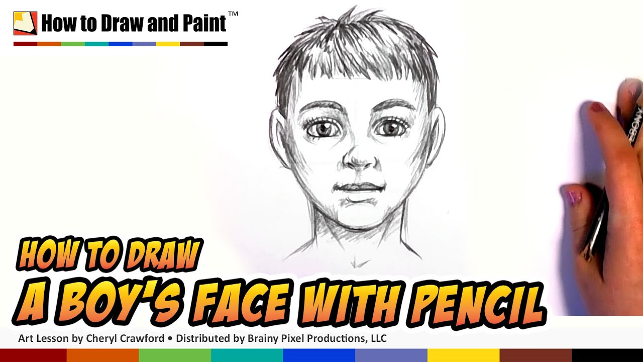 How to draw a boy draw a face in pencil how to draw a person cc
