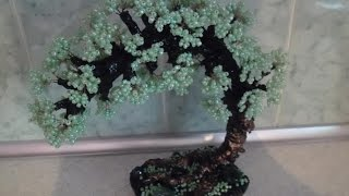 Зеленое дерево из бисера урок №2