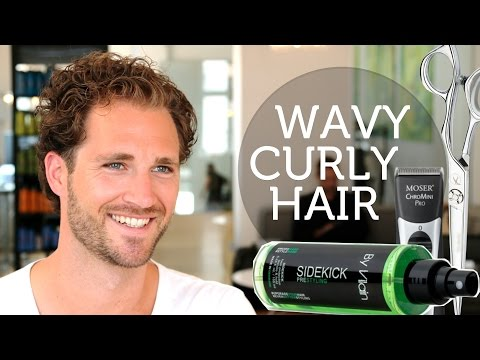 How to Deal with Wavy & Unruly Men's Hair ★ Curly Brody Jenner Hairstyle