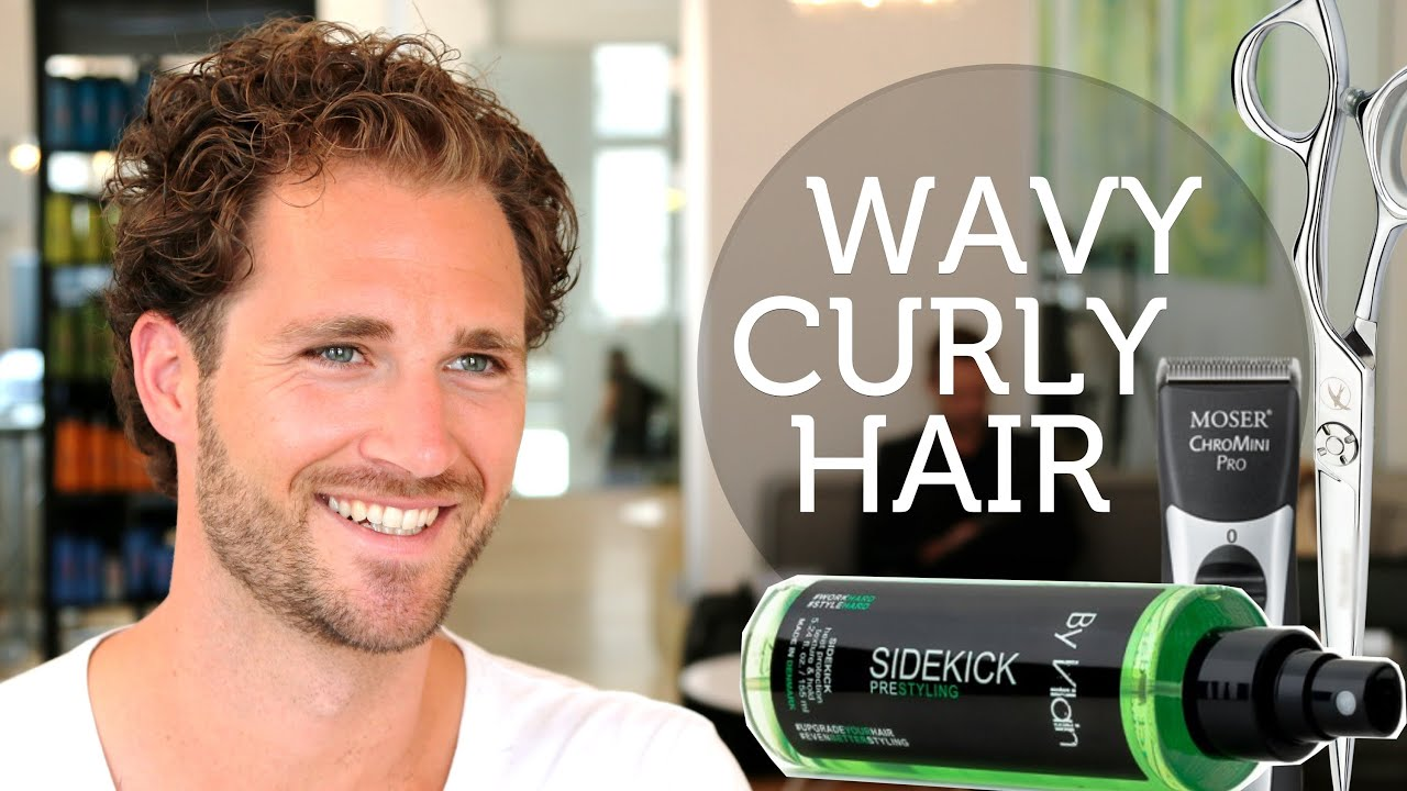 How To Deal With Wavy U0026 Unruly Menu0027s Hair ☆ Curly Brody Jenner Hairstyle    YouTube