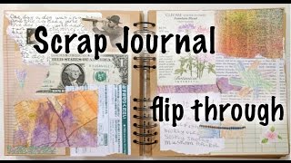 Wire-bound scrap collage journal -- Flip through