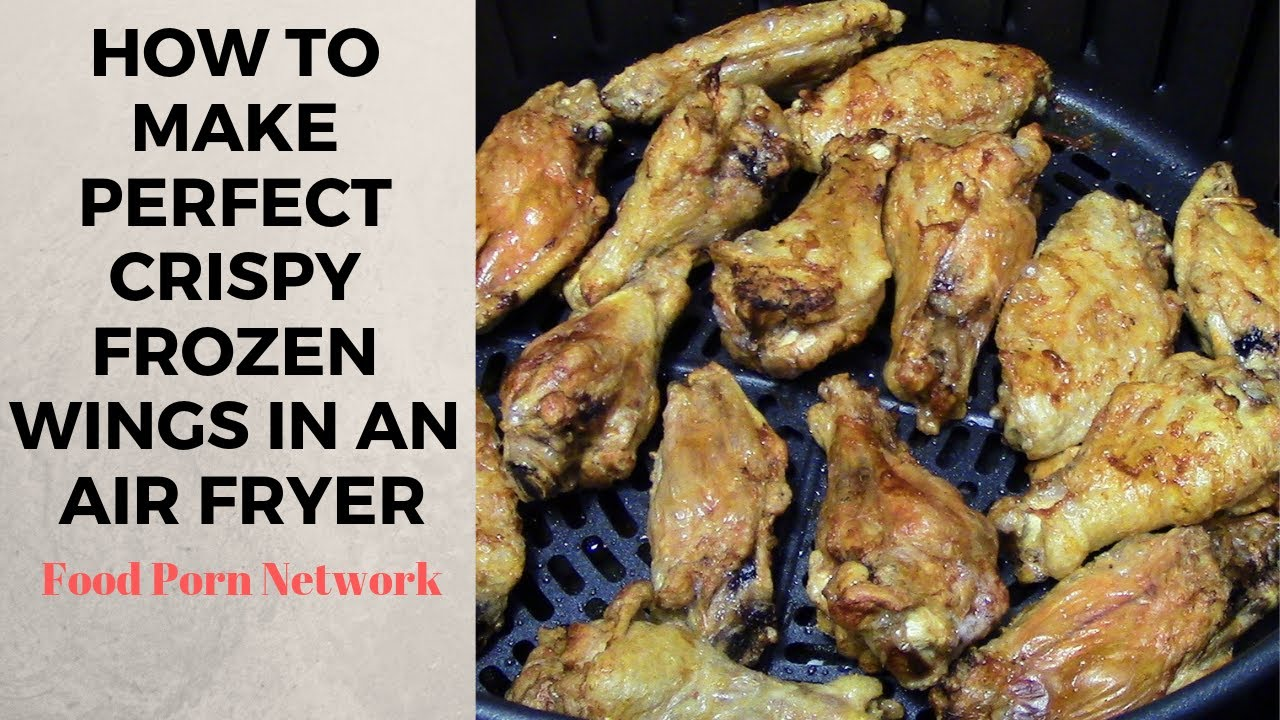 How To Make Frozen Air Fryer Chicken Wings Youtube