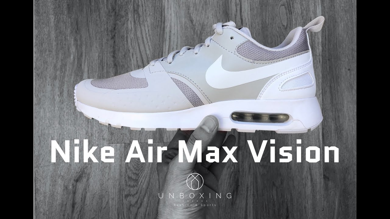 Nike Air Max Vision 'Vast greywhite' | UNBOXING & ON FEET | fashion shoes | 2018 | 4K