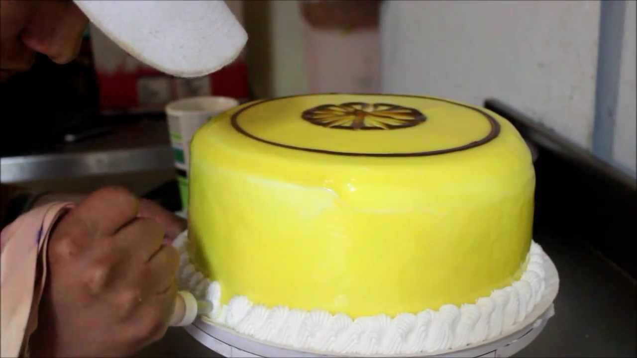 model decorating cakes with whipped cream and jelly - YouTube