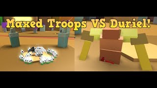 Army Control Simulator | Maxed Troops VS Duriel! (BOSS FIGHT) (SOLO) (ROBLOX)